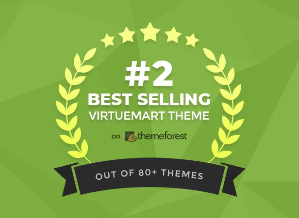 #2 Best Selling VirtueMart Theme on Themeforest