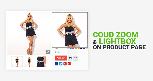 Cloud Zoom & Lightbox on Product Page
