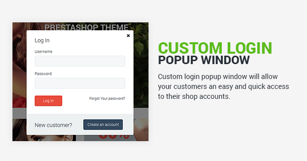 Custom Login Popup Window