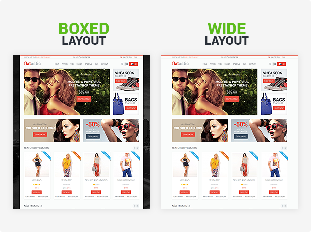 Boxed and Wide Layouts