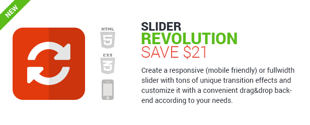 Slider Revolution - save $21