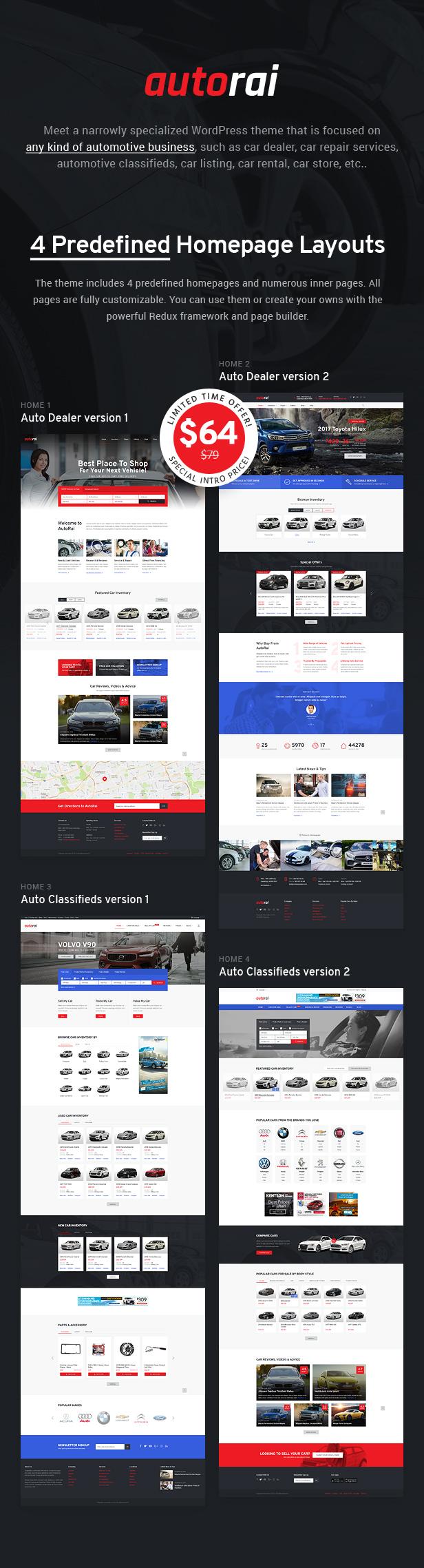 Avtorai- Car Dealer & Automotive Classified WordPress Theme - 1