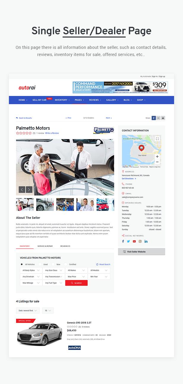 Avtorai- Car Dealer & Automotive Classified WordPress Theme - 10