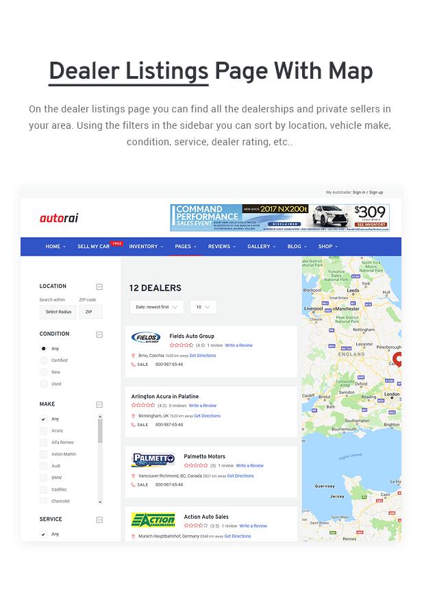 Avtorai- Car Dealer & Automotive Classified WordPress Theme - 9