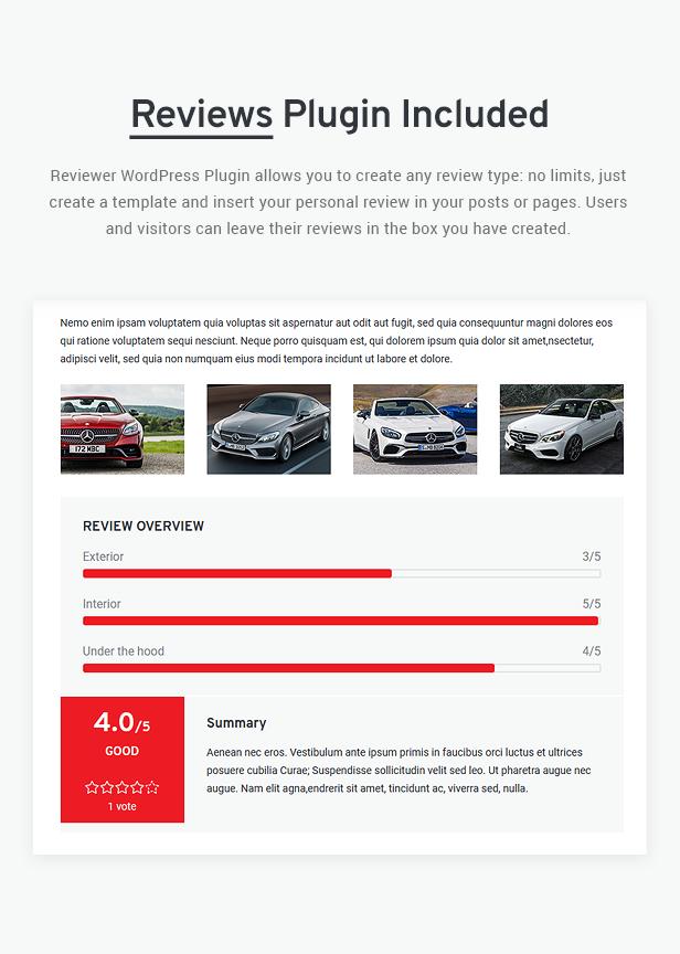 Avtorai- Car Dealer & Automotive Classified WordPress Theme - 13
