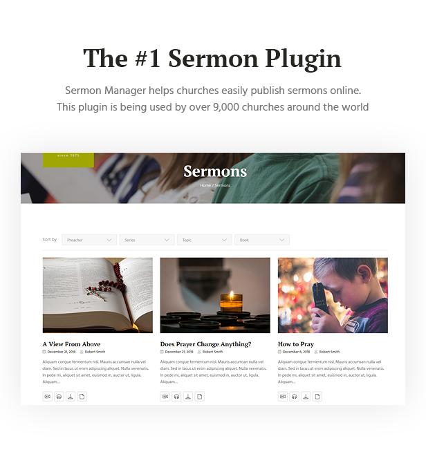 Churhius - Church Religion WordPress Theme - 7