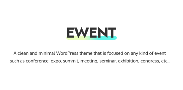 Ewent - Conference & Event Oriented WordPress Theme - 1