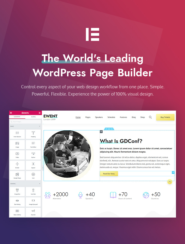 Ewent - Conference & Event Oriented WordPress Theme - 5