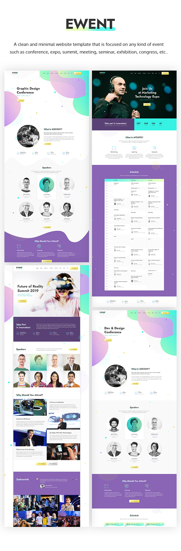 Ewent - Event & Conference Website Template - 1
