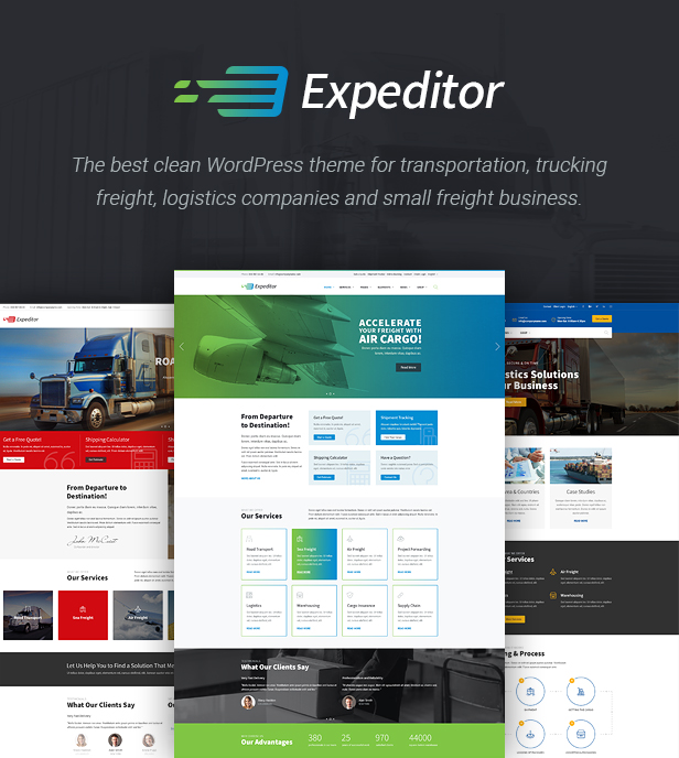 Expeditor - Logistics & Transportation WordPress Theme - 2