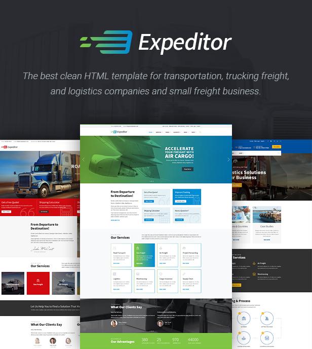 Expeditor - Freight, Logistics, Warehouse & Transportation HTML Template - 2