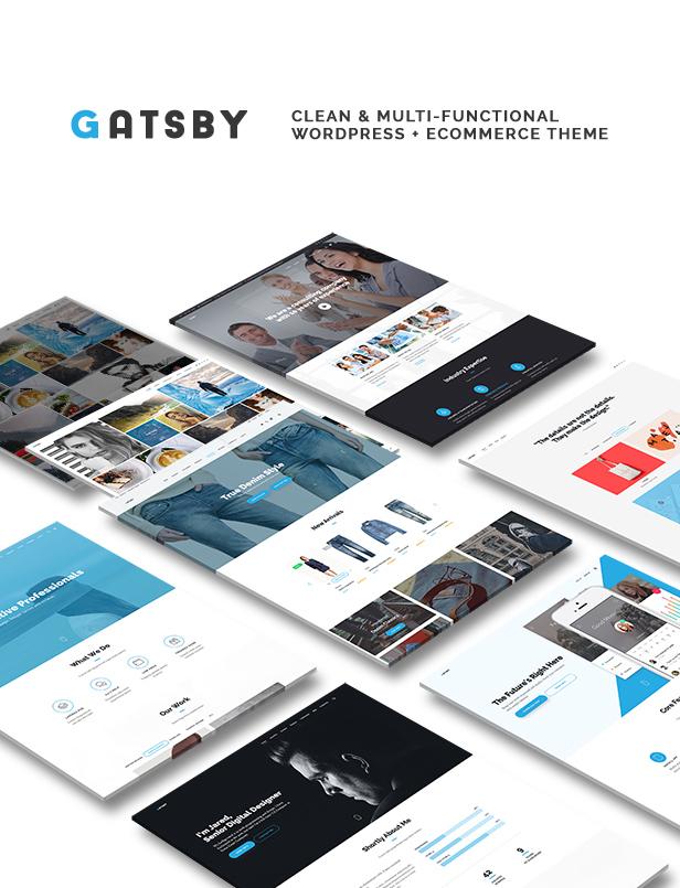 Gatsby - WordPress + eCommerce Theme - 1