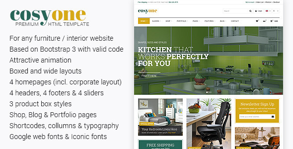 CosyOne - Premium Furniture/Interior HTML Template