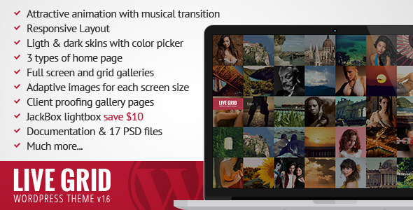 LIVE GRID - Responsive Interactive Wordpress Theme