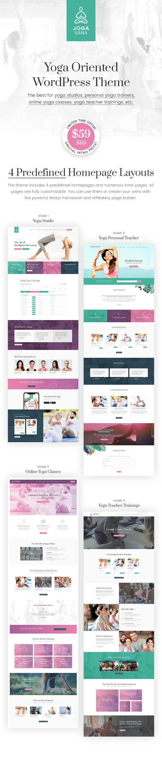 Jogasana - Yoga Oriented WordPress Theme - 1  Download Jogasana – Yoga Oriented WordPress Theme nulled preview01