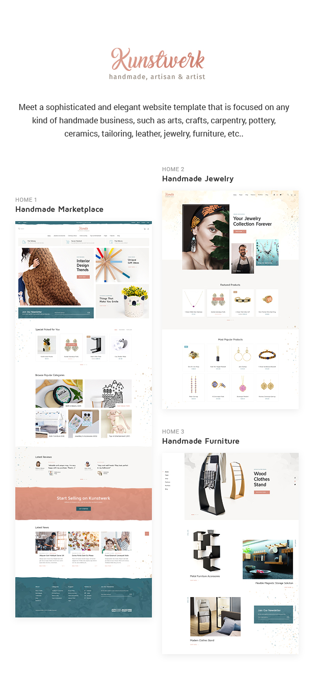 Kunstwerk - Handmade & Artisan HTML Website Template - 1