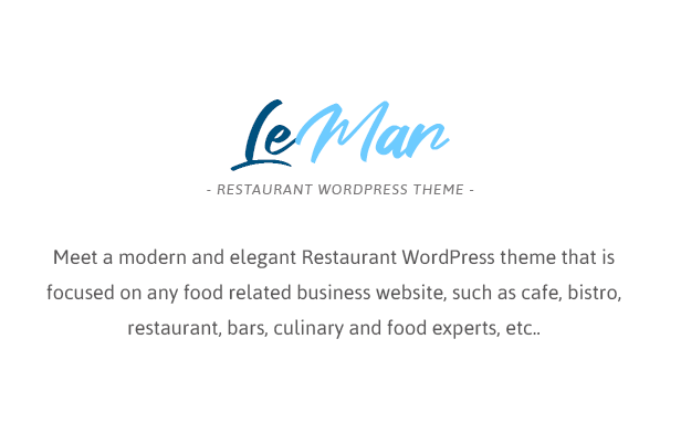 LeMar - Seafood Restaurant WordPress Theme - 1