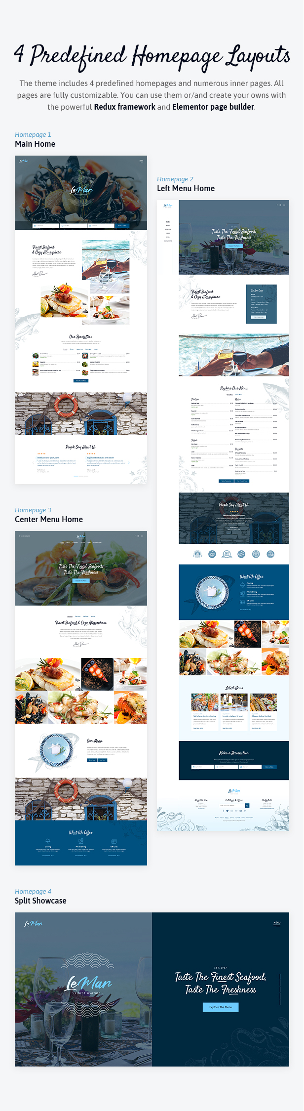 LeMar - Seafood Restaurant WordPress Theme - 2