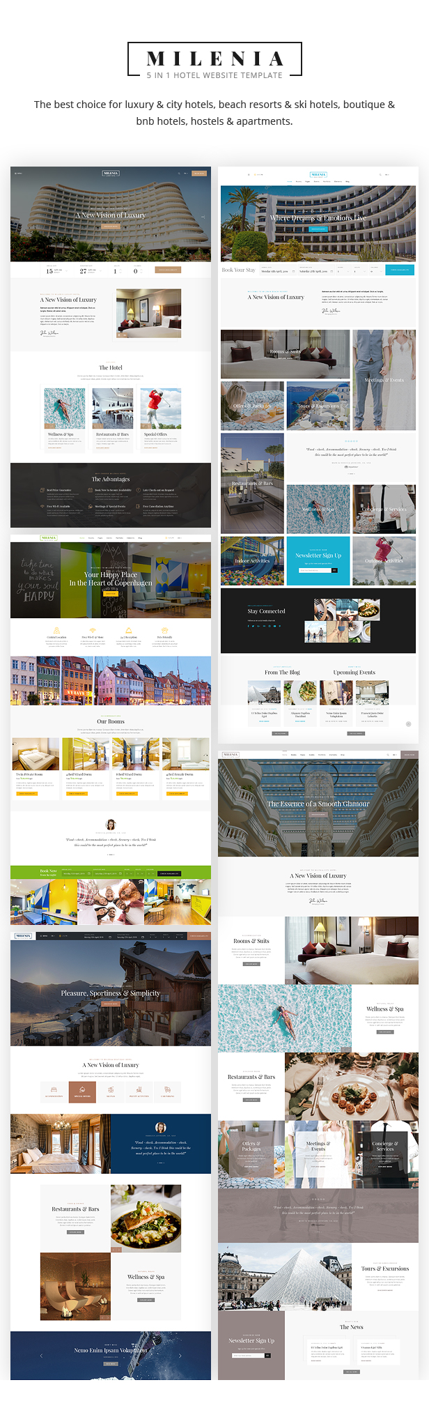 Milenia - Hotel & Resort Website Template - 1