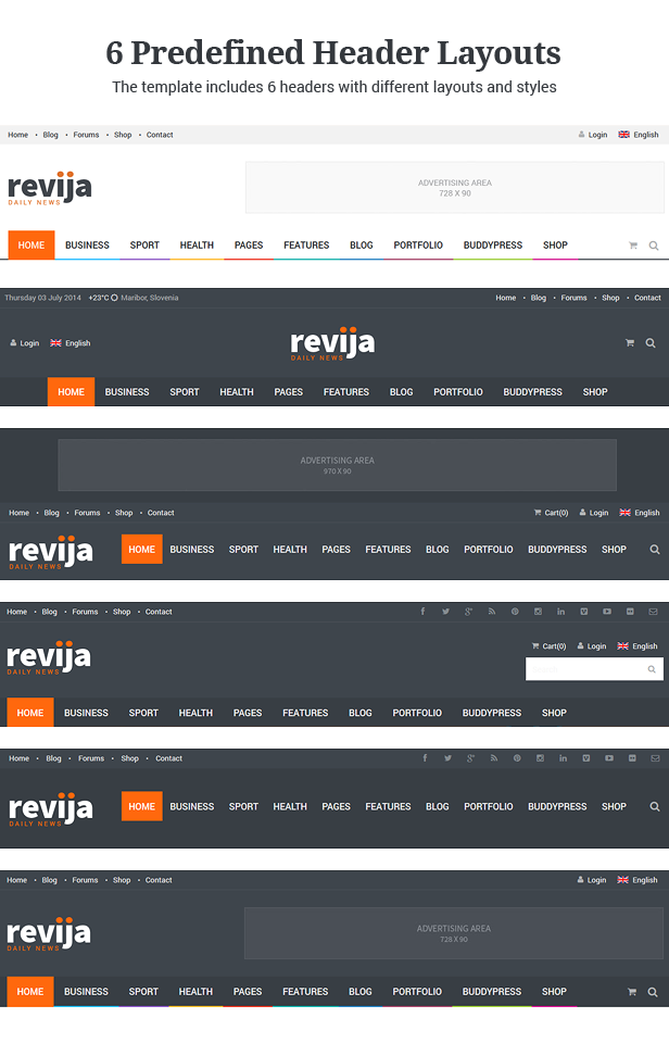 Revija – Premium Blog/Magazine Drupal theme