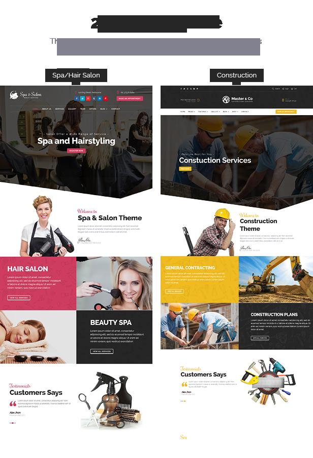 Beauty construction services html template business for Salon construction