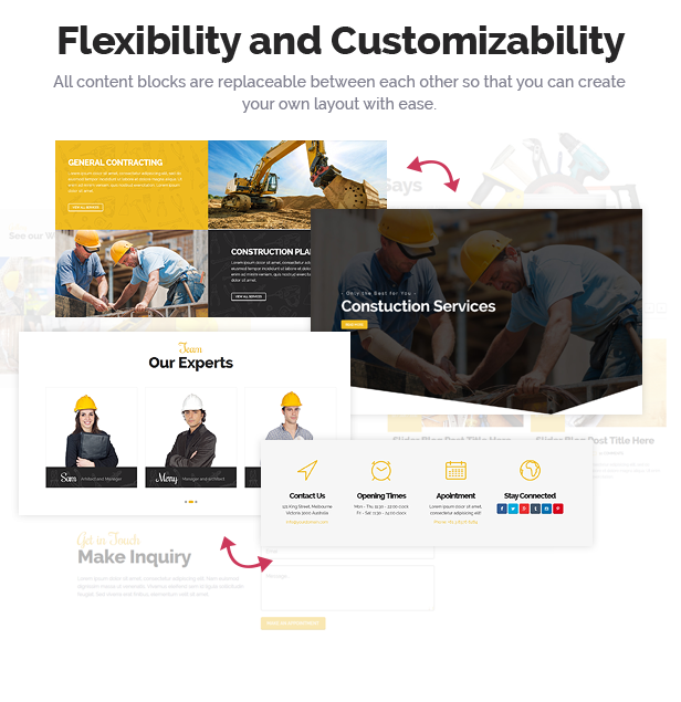 Beauty & Construction Services HTML Template - 3