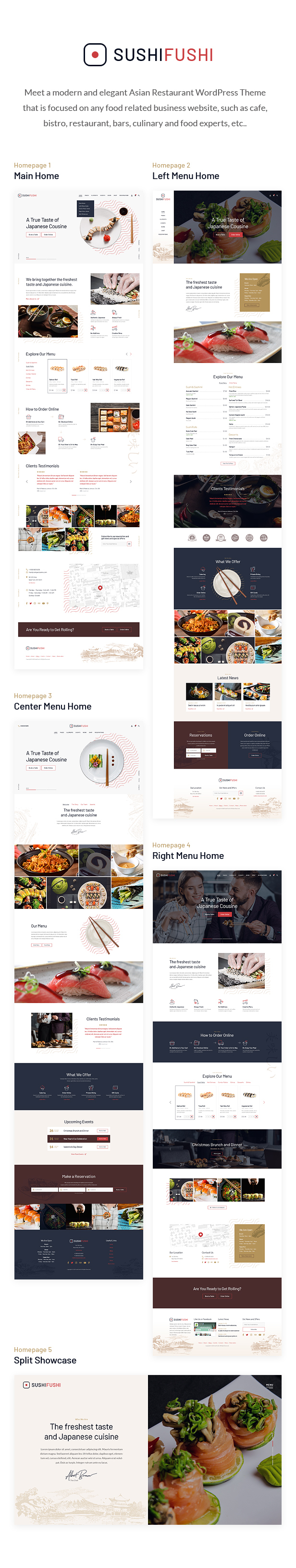 SushiFushi - Japanese & Asian Restaurant WordPress Theme - 1