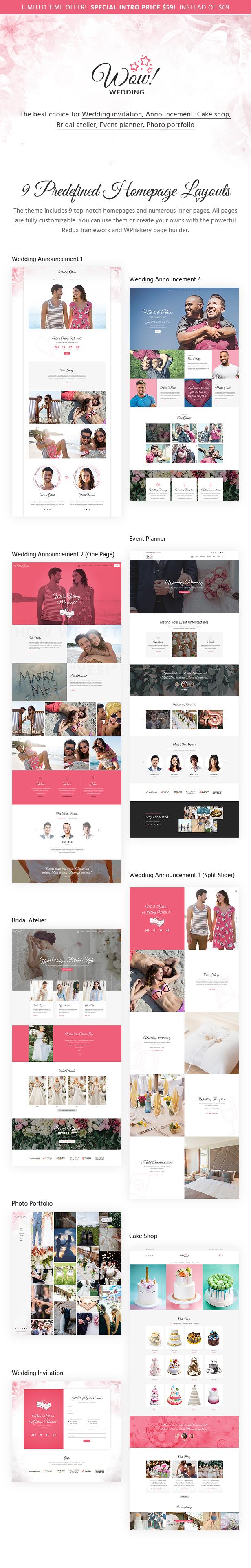 WoWedding - Wedding Oriented WordPress Theme - 1