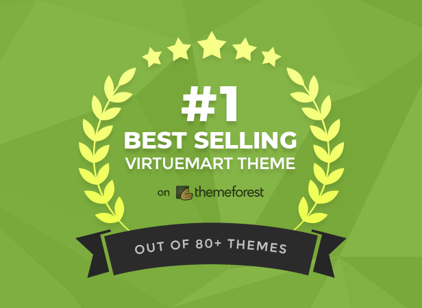 #1 Best Selling VirtueMart Theme on Themeforest