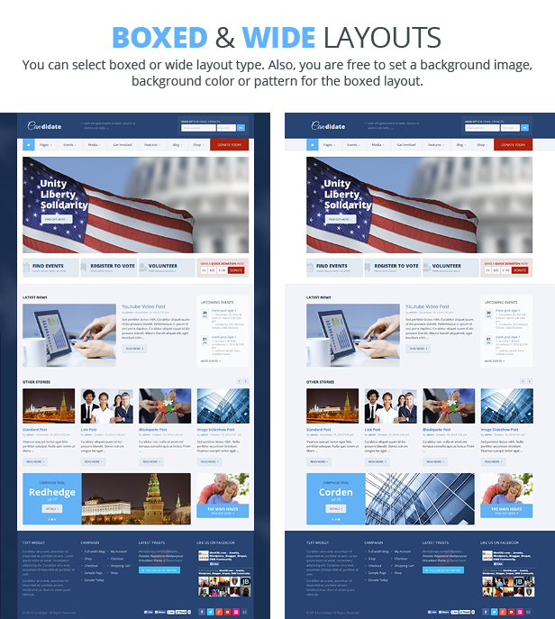 Candidate - Political/Nonprofit/Church WordPress Theme - 6
