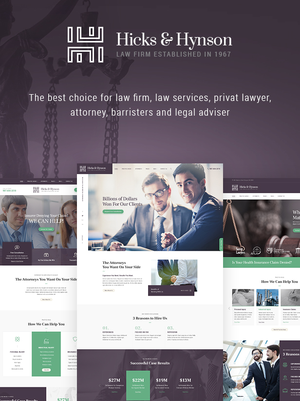Law and Attorney WordPress Theme
