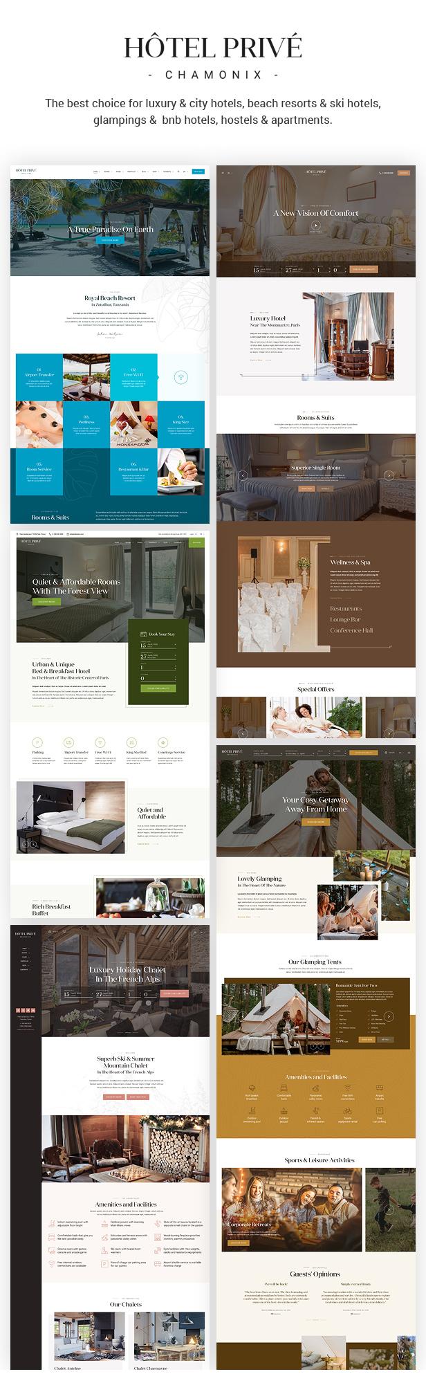 HotelPrive - Resort HTML Template - 1