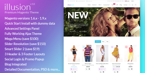 illusion magento - Revija – Premium Blog/Magazine Drupal theme