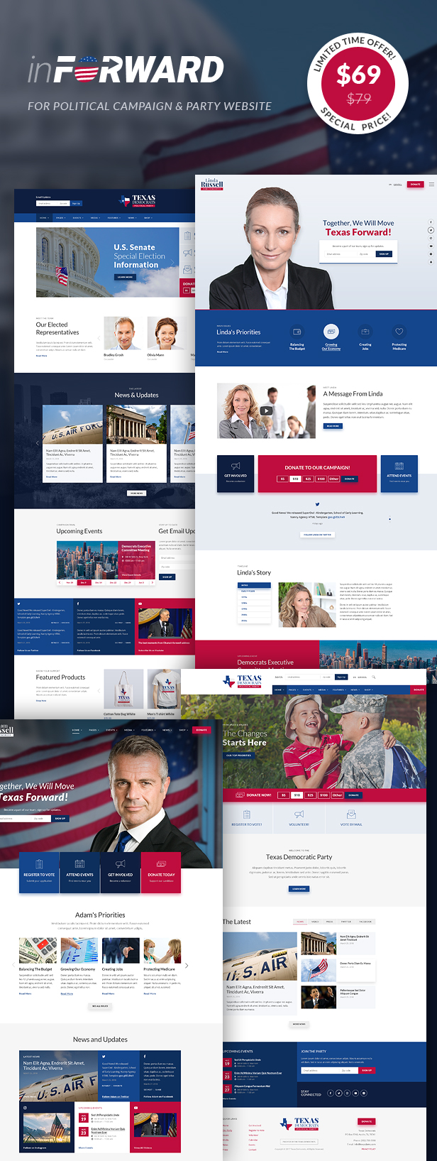 inForward - Political Campaign and Party WordPress Theme - 1