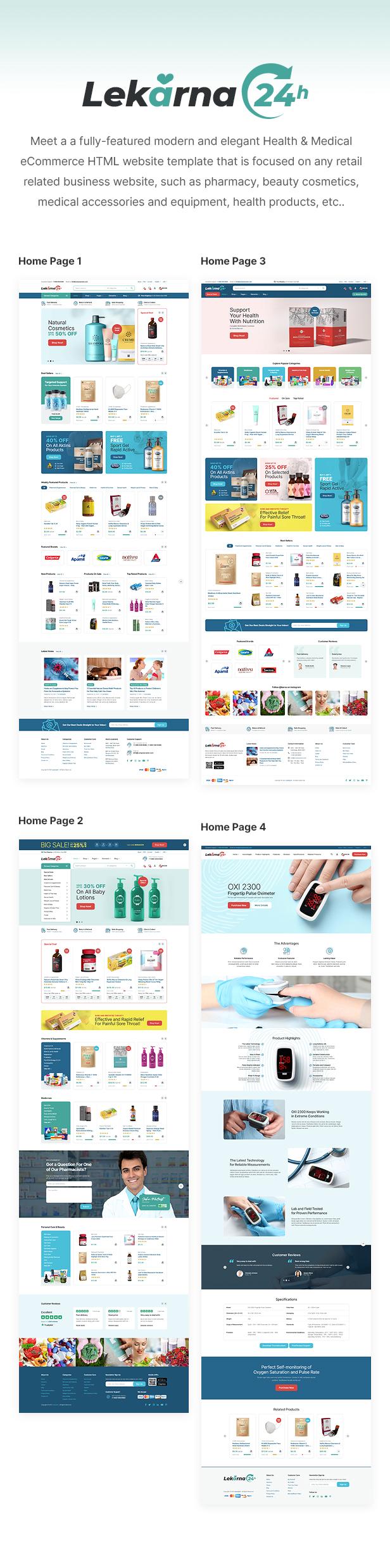 Lekarna24 - Health & Medical eCommerce HTML Website Template - 1