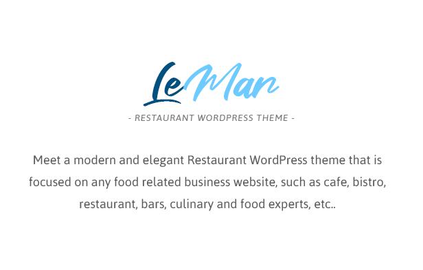 LeMar - Thème WordPress pour restaurant de fruits de mer - 1