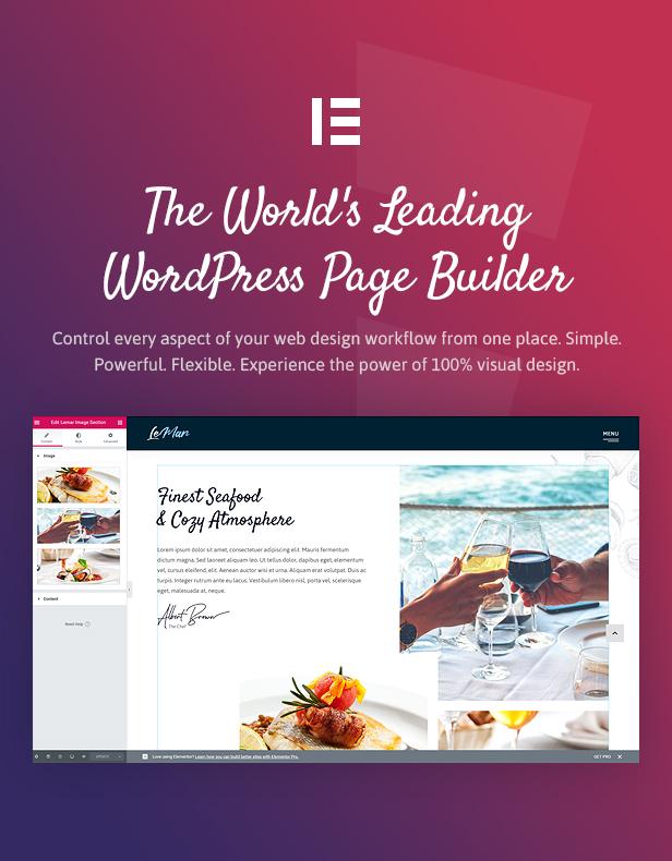 LeMar - Thème WordPress pour restaurant de fruits de mer - 4