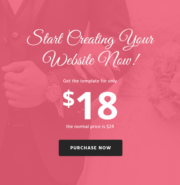 WoWedding - Wedding Oriented HTML Website Template - 3